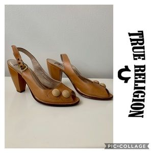True Religion Heels Leather sandals  9